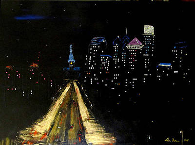 Painting - Philly Night by Lilliana Didovic