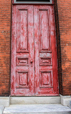 Just Do It Photograph - Philly Red Door by Ashley Germain