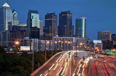 Photograph - Philly Skyline With Highways by Matthew Bamberg