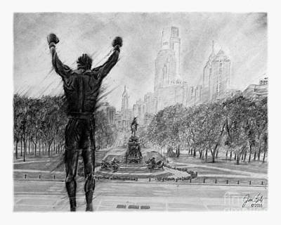 Rocky Balboa Drawing - Philly Strong by Jordan Spector