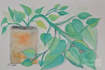 Philodendron Painting - Philodendron by Maria Urso