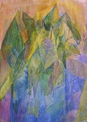 Philodendron Phun Art Print by Jan Cline-Zimmerman