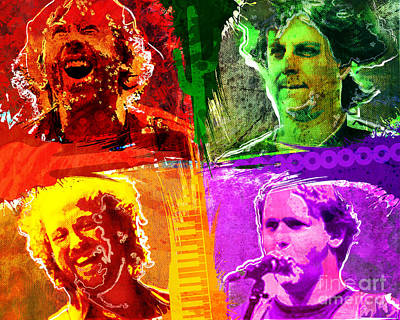 Drummer Mixed Media - Phish Art by Ryan Rock Artist