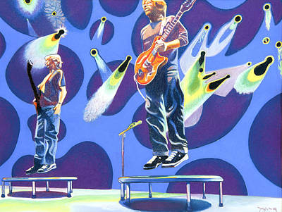 Phish Drawing - Phish Tramps by Joshua Morton