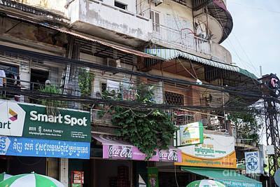 Photograph - Phnom Penh Shophouse Apartments 04 by Rick Piper Photography