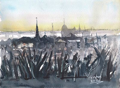 Painting - Phnom Penh Panorama by Gaston McKenzie