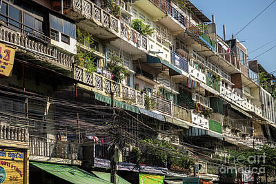 Photograph - Phnom Penh Shophouse Apartments 01 by Rick Piper Photography