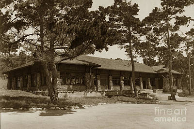 Photograph - Phoebe A Hearst Social Hall Asilomar Pacific Grove Circa 1925 by California Views Mr Pat Hathaway Archives