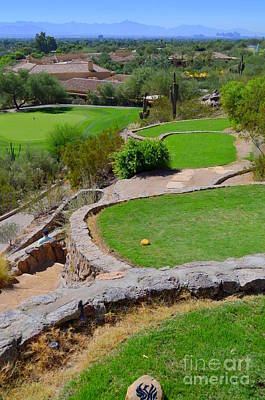 Photograph - Phoenician Golf Club - Signature Hole - Desert 8 by Mary Deal