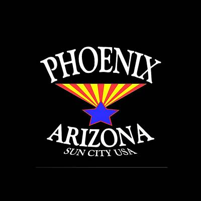 Mixed Media - Phoenix Arizona Design by Art America Gallery Peter Potter