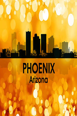 Architecture Digital Art - Phoenix Az 3 Vertical by Angelina Vick