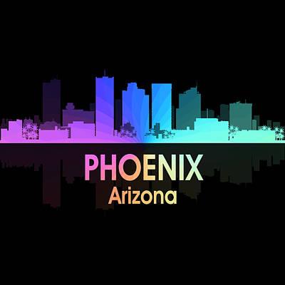 Digital Art - Phoenix Az 5 Squared by Angelina Tamez