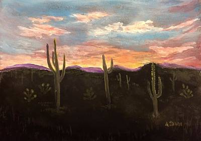 Phoenix Az Sunset Art Print