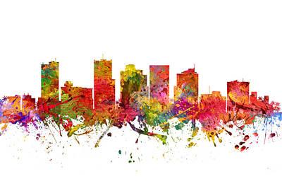 Phoenix Drawing - Phoenix Cityscape 08 by Aged Pixel