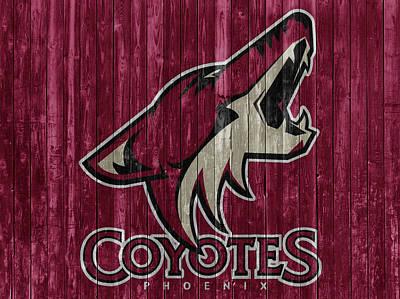 Phoenix Mixed Media - Phoenix Coyotes Barn Door by Dan Sproul