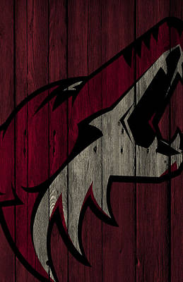 Digital Art - Phoenix Coyotes Wood Fence by Joe Hamilton
