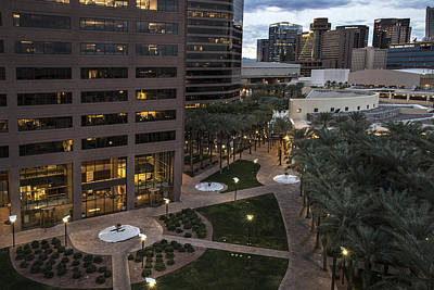 Photograph - Phoenix Downtown Lights by Dave Dilli