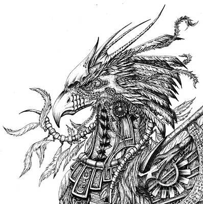 Phoenix Drawing - Phoenix by Emma Ridley