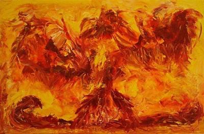 Vox Painting - Phoenix by Gunter  Tanzerel