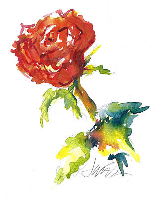 Painting - The Phoenix Rose by Jacki Kellum
