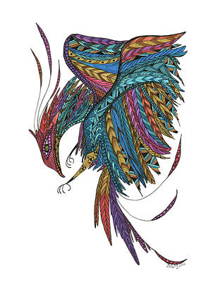 Drawing - Phoenix Landing by Barbara McConoughey