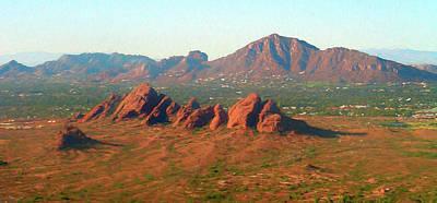 Digital Art - Phoenix Mountains Digital Painting by Randy Herring
