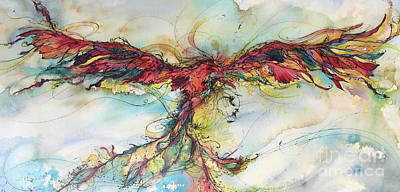 Painting - Phoenix Rainbow by Christy Freeman