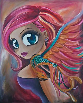 Phoenix Bird Drawing - Phoenix Reborn by Zara  Spence
