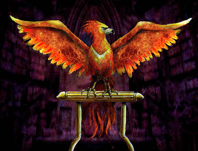 Dumbledore Painting - Phoenix by Rick Mosher