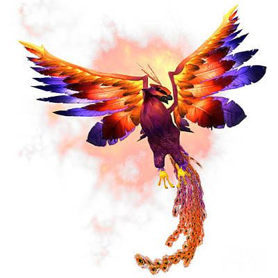 Warm Digital Art - Phoenix Rising by Corey Ford
