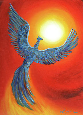 Mythological Painting - Phoenix Rising by Laura Iverson