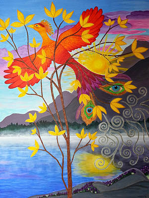 Phoenix Rising To New Life Original by Michelle Vyn
