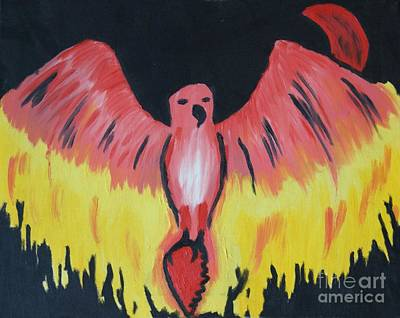 Painting - Phoenix Rising by Travis Dosser