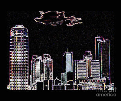 Digital Art - Phoenix Skyline by Steven Parker