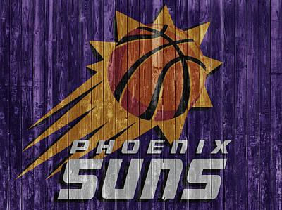 Mixed Media - Phoenix Suns Barn Door by Dan Sproul