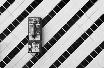 Phone And Lines Print by Dan Holm