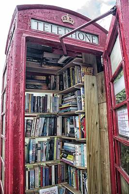 Old Phone Booth Photograph - Phone Book by Martin Newman