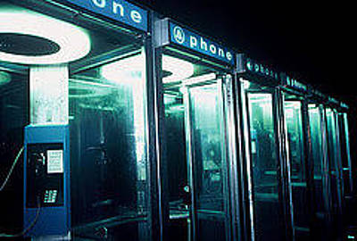 Billy Tucker Photograph - Phone Booth Neon by Billy Tucker