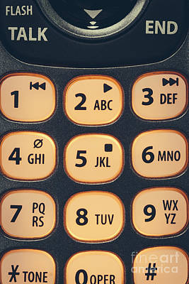 Photograph - Phone Key Pad by Bryan Mullennix