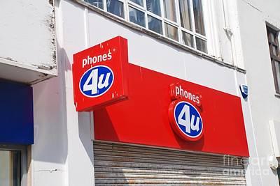 Photograph - Phones 4u Hastings Store by David Fowler