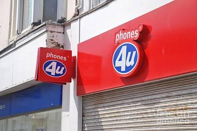 Photograph - Phones 4u Shop by David Fowler