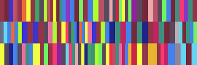 Painting - Phonetic Alphabet - Stripe Grid by REVAD David Riley