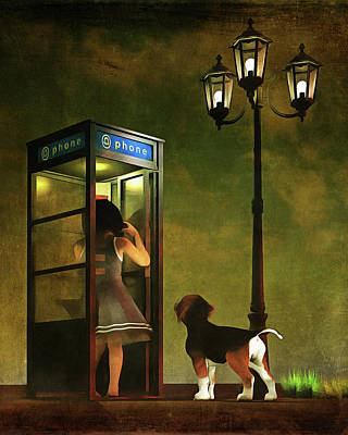 Phoning Home Art Print