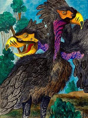 Painting - Phorusracos by Gabriel Cajina