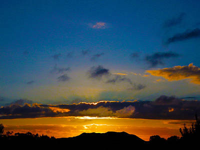 Photograph - Phosphorescent Sunset by Mark Blauhoefer
