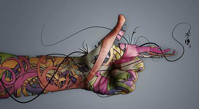 Manipulation Photograph - Photo Manipulation Digital Hand                   by Fran Sotu