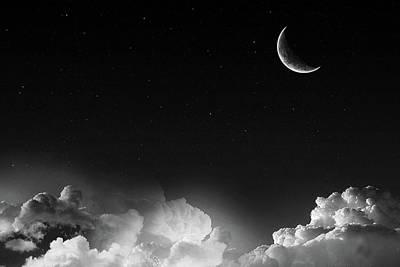 Manipulation Photograph - Photo Manipulation Stars And Moonshine                  by F S