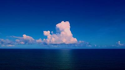 Manipulation Photograph - Photo Manipulation White Clouds Above The Sea                by F S
