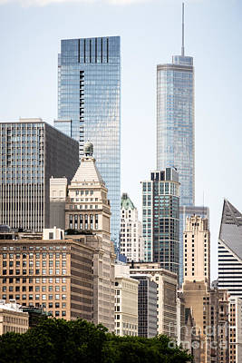 Chicago Loop Photograph - Photo Of Chicago Buildings Along Michigan Avenue by Paul Velgos