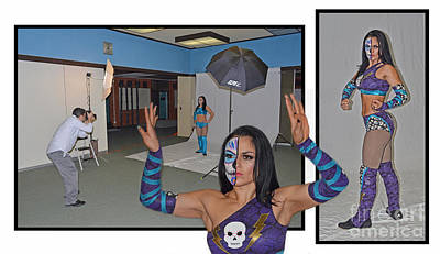 Photograph - Photo Shoot With The Legendary World Wrestling Champion Thunder Rosa  by Jim Fitzpatrick